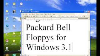 How To Install a Packard Bell Windows For Workgroups 3.11on DOSBox .72 Part 1