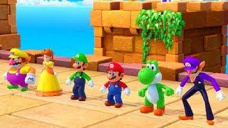Super Mario Party - Mario Vs Bowser Vs Peach Vs Yoshi - Minigames
