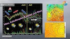 Wettervorhersage: Hitzewelle, Kaltlufttropfen, Siebenschläfer, Nordmeerluft und kühler Juli-Start