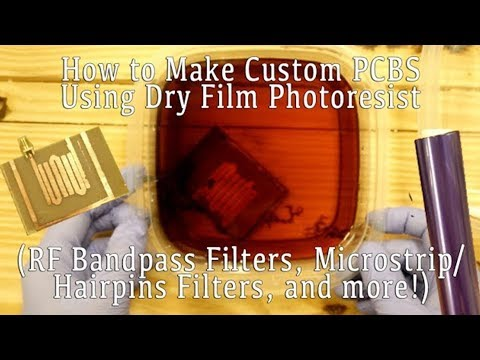 How to Make Custom PCBs and Radio Bandpass Filters (Microstrip/Hairpin Filters)