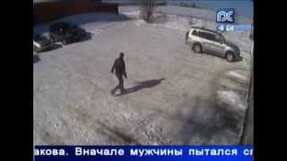 Камеры зафиксировали задержание сбежавшего зэка. Camera recorded the arrest escaped prisoner