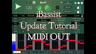iBassist - Update - FULL Midi Chords Out TUTORIAL for the iPad - Excellent Update