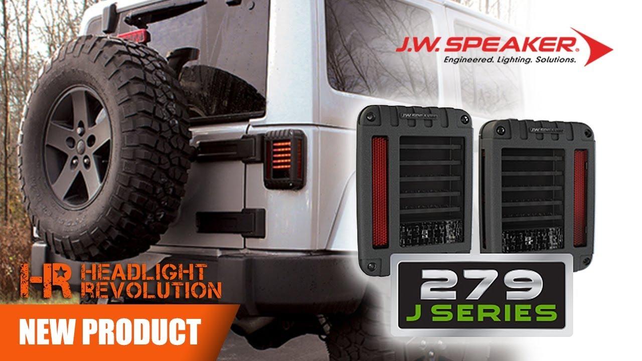 JW Speaker Model 9 J Series Jeep JK LED Tail Lights Now at  Headlight  Revolution