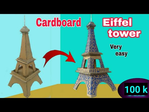 How to make Eiffel Tower with cardboard