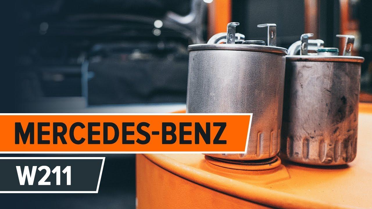 wie mercedes benz   kraftstofffilter wechseln tutorial autodoc youtube