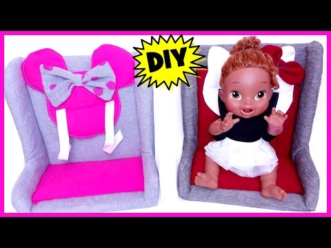DIY How To Make A Real Car Seat for Dolls! | Baby Alive & American Girl
