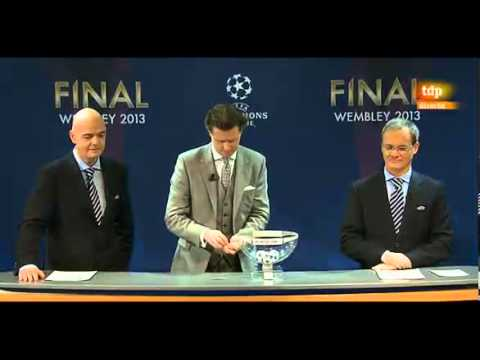 Sorteo Cuartos de Final - Champions League 2012/2013