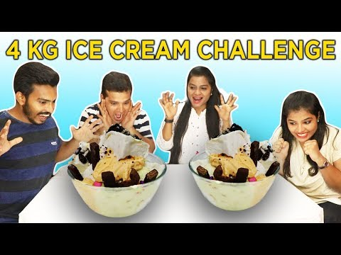 4 Kg ICE-CREAM Eating Challenge | 4 Family Pack IceCream Eating Challenge |4 kg आइसक्रीम चॅलेंज