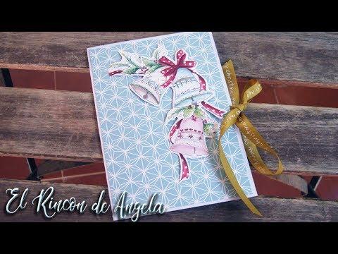 Tarjeta de felicitacion navideña scrapbooking embossing,scrapbook, diy, manualidades navidad