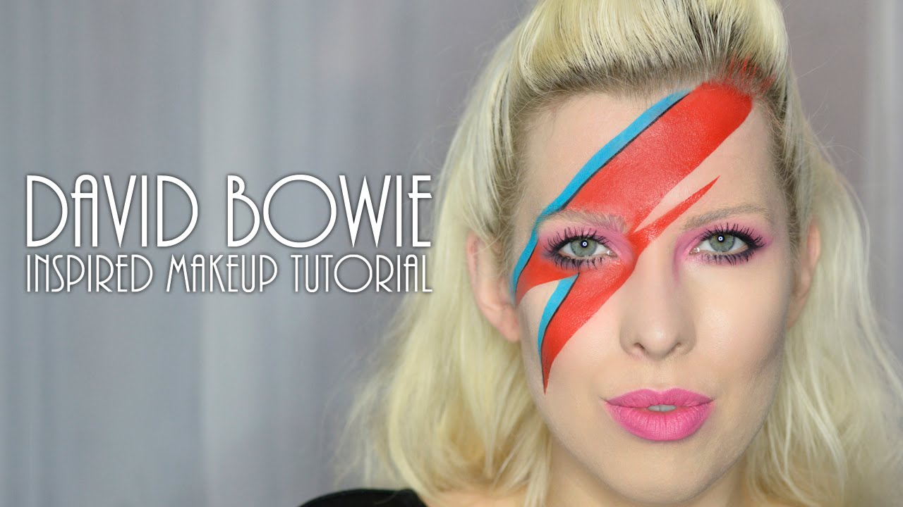 David Bowie inspired Aladdin Sane makeup tutorial - YouTube