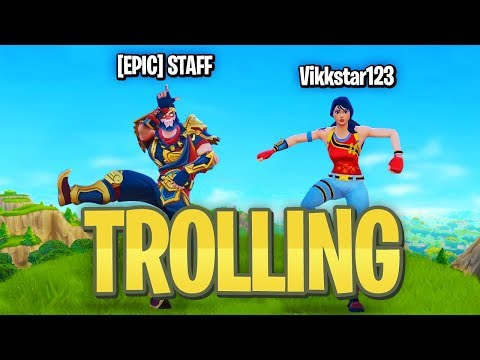 TROLLING Fortnite Players with an EPIC EMPLOYEE