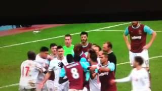 West ham vs Liverpool fight 2015/16
