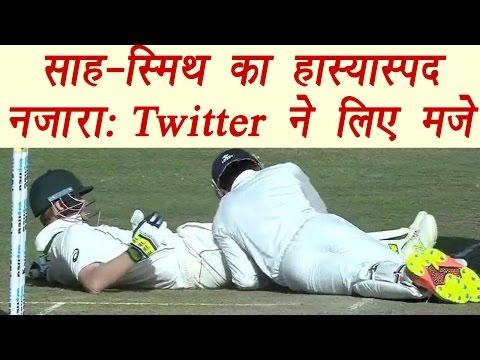Wriddhiman Saha's hilarious effort to get Steve Smith wicket; Twitter reacts | वनइंडिया हिंदी