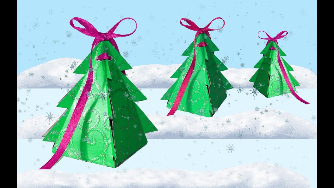 Paper Craft Ideas For Christmas Part - 49: DIY Crafts - How To Make Christmas Box Tree / DIY Project - Paper Craft  Ideas / DIY Beauty And Easy