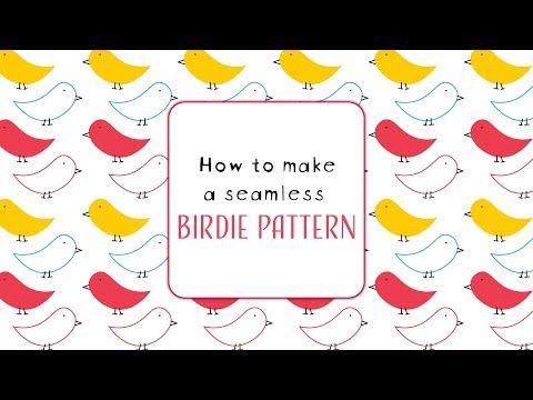 How to make a Seamless Birdie pattern - Illustrator tutorial