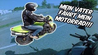 Mein Vater fährt mein Motorrad!