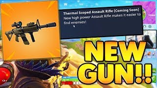 NEW THERMAL SCOPED RIFLE COMING TO FORTNITE!! 21 kill squad game | TBNRKENWORTH