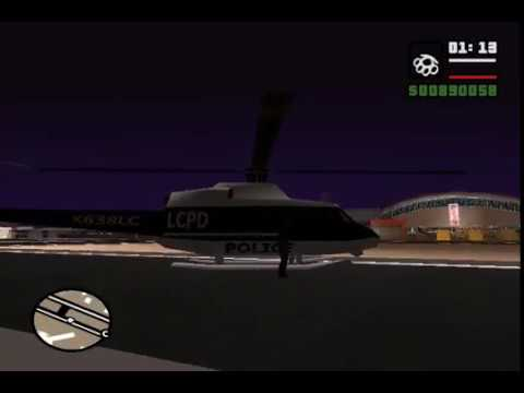 GTA San Andreas: Testing Police Helicopter From GTA III