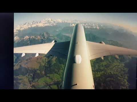 Taking off from Geneve airport, Qatar Airways