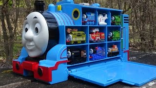 Big Thomas station & 9 Trains ☆ Thomas & Friends hide and seek in park!