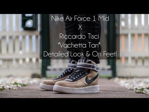 "Nike Air Force 1 Mid X Riccardo Tisci ""Vachetta Tan"" Detailed Look & On Feet!"
