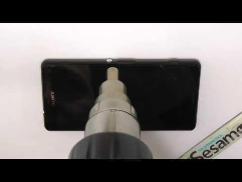Sony Xperia Z3 compact Glas / Touchscreen wechseln mit LOCA UV Kleber Deutsch