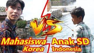 Mahasiswa Korea tantang mancing Anak SD Indonesia!?