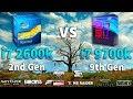 i7 2600K vs i7 9700K Test in 8 Games
