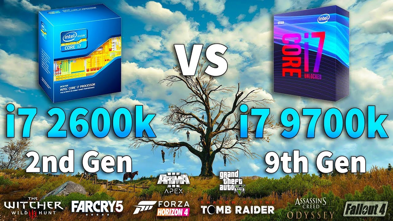 i7 2600K vs i7 9700K Test in 8 Games