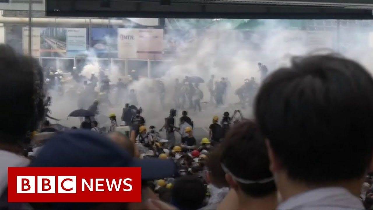 Hong Kong government offices close in worst violence in decades
