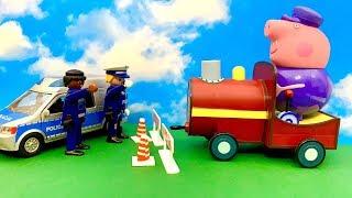 Bajka Świnka Peppa po Polsku dla dzieci  Dziadek Świnka i Policja