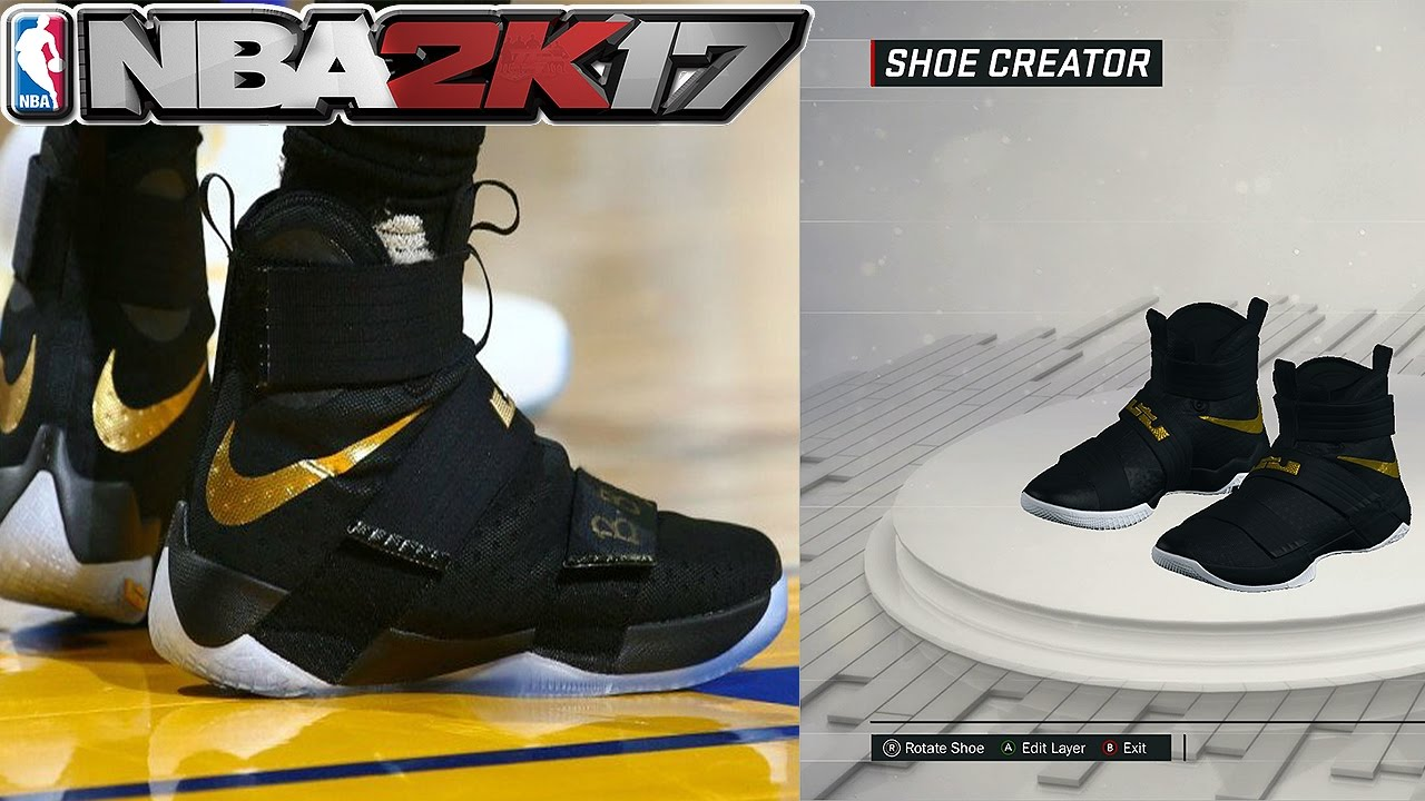 NBA 2K17 Shoe Creator Nike Soldier 10 PE 2016 NBA Finals Game 7
