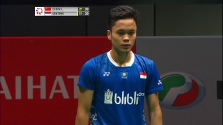 QF | MS | CHEN Long (CHN) [3] vs Anthony Sinisuka GINTING (INA) [6] | BWF 2019