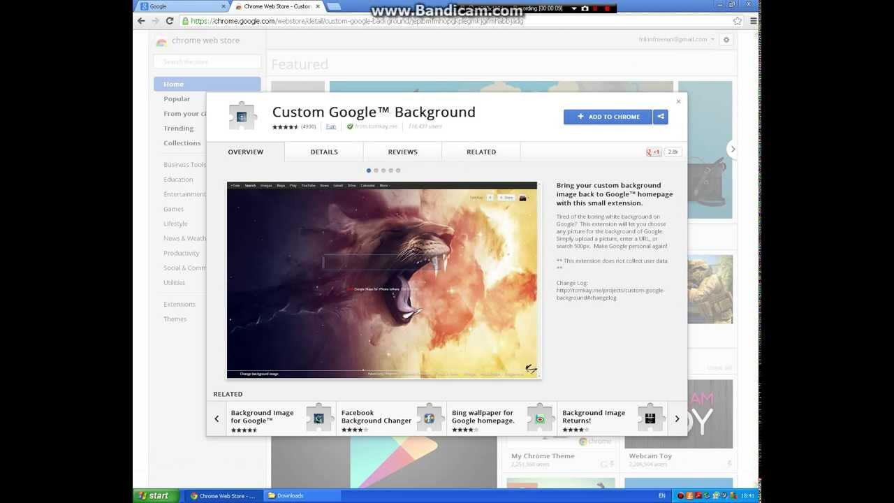 how to get a custom google background image awesome free trick