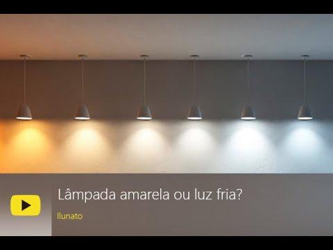Lâmpada amarela ou luz fria? Qual é a melhor?
