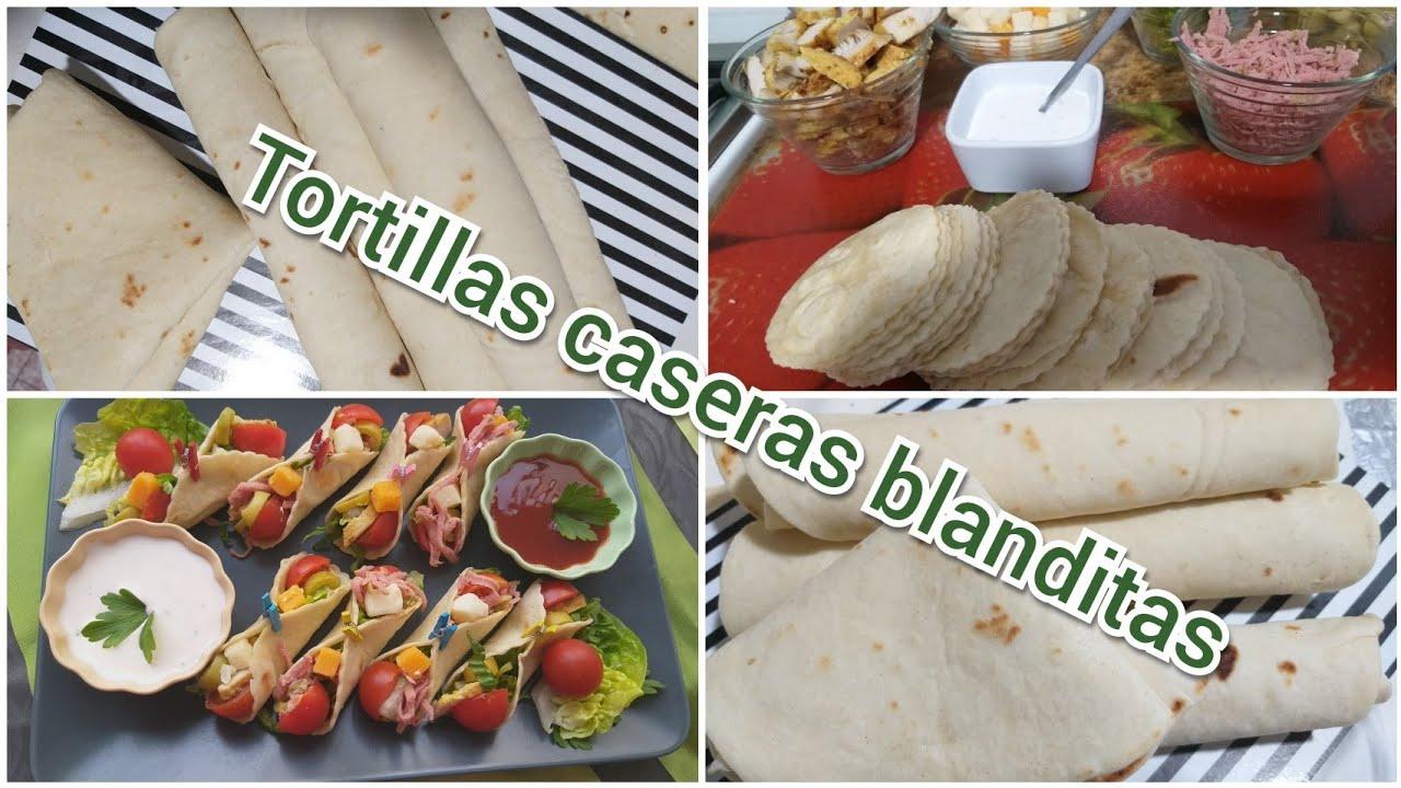 Tortillas de harina blanditas y finitas paso a paso para tacos, fajitas,kebab muy fácil de preparar
