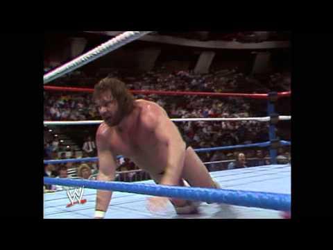 """Hacksaw"" Jim Duggan wins the first Royal Rumble"