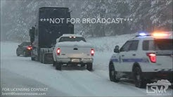 01-20-2017 - Flagstaff, AZ - Snow plows, multiple accidents, cars stranded on I 17