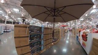 at costco 11 foot solar led cantilever umbrella 579 99 quick look