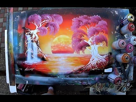 Spray Paint Art Sakura