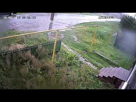 Ураган в посёлке Зелёный Воронежской области (запись с камеры)