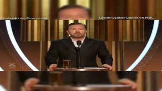 "Ricky ""Savage"" Gervais's Golden Globe Opening Monologue 2020"