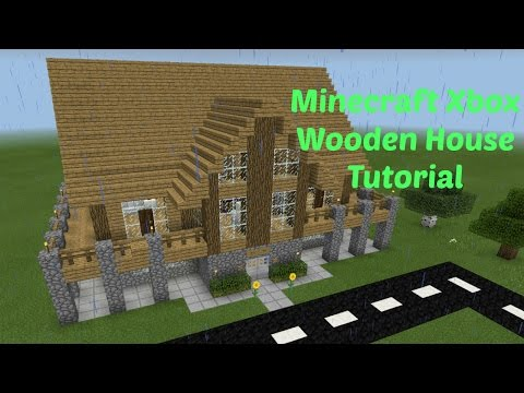 Minecraft Xbox House Wooden House Tutorial Part 1 Youtube