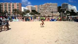Mallorca Beach Rugby 2013 lady finals - give her a break