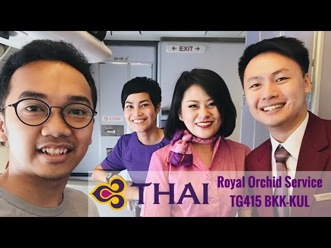 Thai Airways BEST Royal Orchid Service | Bangkok to Kuala Lumpur | TG415