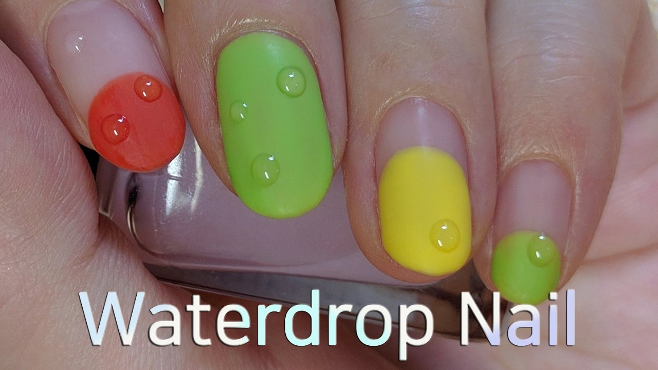 Nails Art: Water Drop Nail Art Tutorial (Gel Nails)