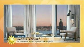 Här är Sveriges dyraste lägenhet - Nyhetsmorgon (TV4)