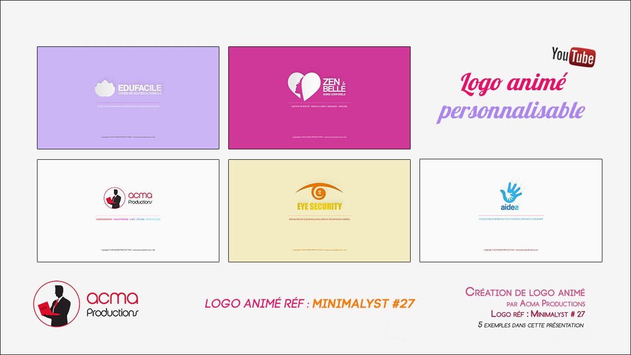 Exemple Logo acma productions - exemple de logo vidéo - minimalyst 27 - youtube