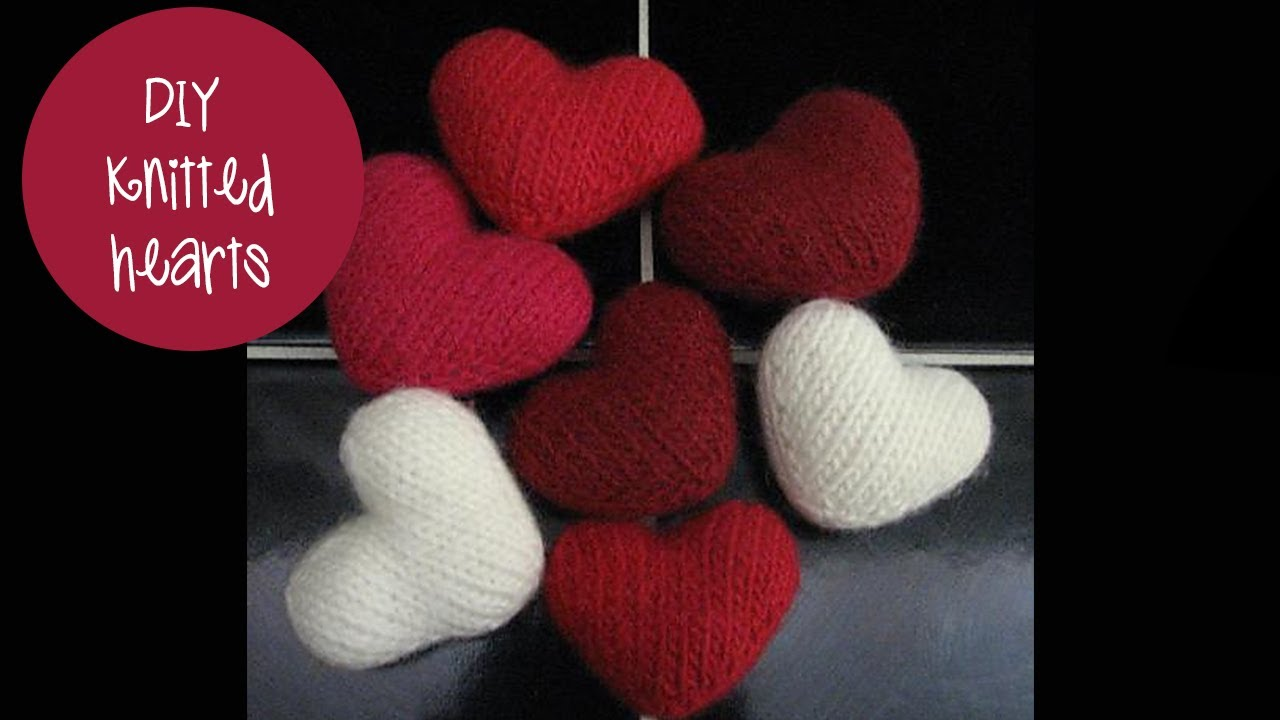 How to knit a puff heart  YouTube