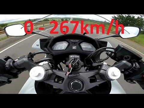 2017 Honda CBR650F - Acceleration 0-267km/h & Startup & Startup & Exhaust Sound & Burnout & Wheelie